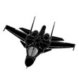 draw of modern russian jet bomber aircraft vector image