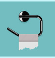 empty toilet paper roll and metal holder vector image