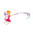 fairy logo vector image