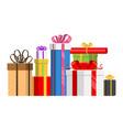gift box present packs for christmas or vector image
