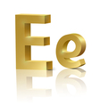 Golden letter E vector image