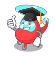 graduation helicopter character cartoon style vector image vector image