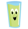 green happy juice on white background vector image vector image