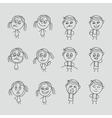 Group of happy children boy and girl emotions vector image vector image