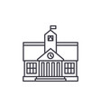 higher education line icon concept higher vector image