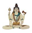 hindu god shiva flat vector image