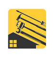 home repair tool with symbol vector image vector image