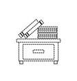 isolated furniture design vector image vector image
