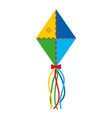 kite flying isolated icon vector image