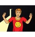 Man on drugs pop art style vector image