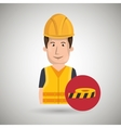 man worker protection tools icon vector image vector image