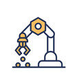 mechanical hand - line design single icon vector image vector image