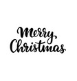 merry christmas hand drawn creative calligraphy vector image