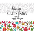 merry christmas holidays seamless border with vector image vector image