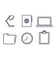 office elements design vector image