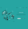 office life - line design style isometric web vector image vector image
