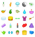 ointment icons set cartoon style vector image vector image