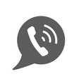 phone call icon style is flat rounded vector image vector image