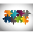 Puzzle pieces teamwork vector image vector image