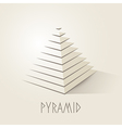 Pyramid shape abstract symbol vector image vector image