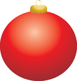 Red Ball Ornament vector image vector image