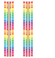 seamless rainbow tire tracks vector image vector image