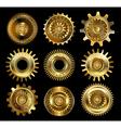 set complex gears vector image