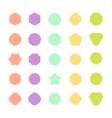 set of color badge shape trophy and reward vector image vector image