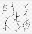 set of cracks in the surface vector image vector image