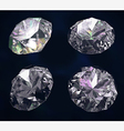 Set of four colored gems vector image