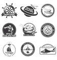 Set of vintage space nautical aeronautics flight vector image vector image