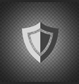 shield icon security protection icon placed on vector image vector image