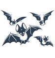 silhouette of bats night vector image vector image