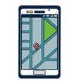 smartphone with gps location vector image