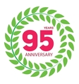 Template Logo 95 Anniversary in Laurel Wreath vector image