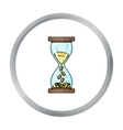 Time Is Money icon in cartoon style isolated on vector image vector image