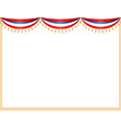 usa flag curtains festive frame vector image