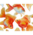 Watercolor pattern with goldfishes vector image