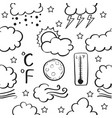weather style of doodle set vector image vector image
