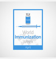 world immunization week icon vector image vector image