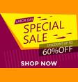 yellow banner big sale vector image vector image