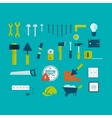 flat icon tools vector image