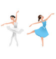 two young ballerinas vector image