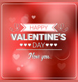 happy valentine day retro background bokeh blurred vector image