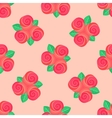 Little pink rose seamless background vector image