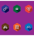 set of colorful icons vector image