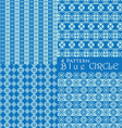4 pattern blue circle vector image vector image
