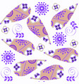 abstract paisley colorful seamless pattern vector image