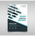 annual report design template vector image vector image