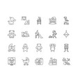 baproducts line icons signs set vector image vector image